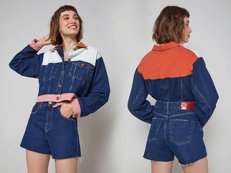 conjunto jeans anos 90