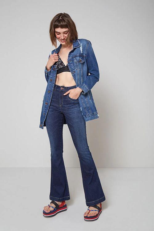 jaqueta jeans meia estação